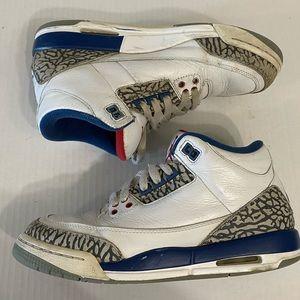 "Nike Air Jordan III ""True Blue"" shoes size 6Y"